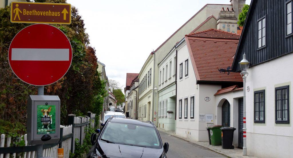 Probusgasse in 2016, facing same direction