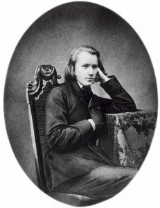Brahms in 1853, at 20. This is the earliest known photograph of the composer