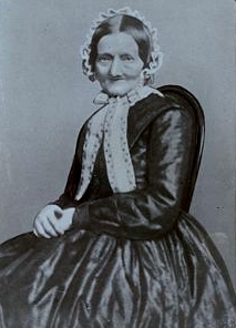 Johanna Henrica Christiane Brahms (1789-1865) photo taken three years before her death