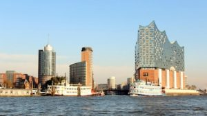 The Elbphilharmonie in the HafenCity quarter of Hamburg