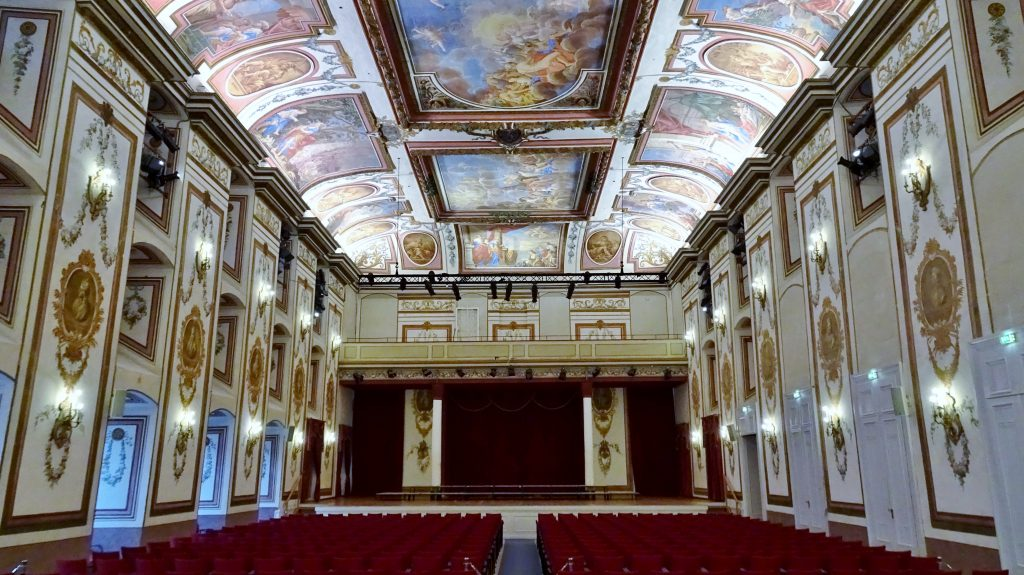 Haydnsaal and stage in the Esterházy Palace