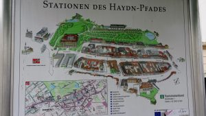 City plaque showing key Haydn sites in Eisenstadt