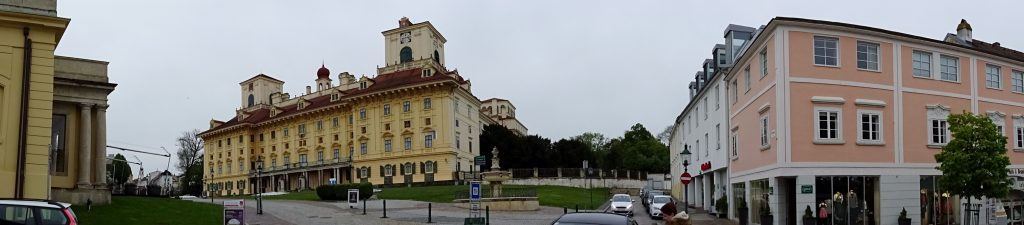 Esterházy Palace overlooking the town of Eisenstadt in present-day Austria