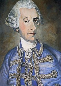 Haydn received winter and summer livery each year as part of his Esterházy salary. Photo 1772-3 attrib Grundmann, painted C Peel