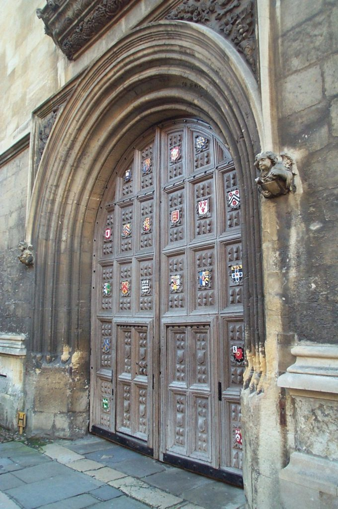 Bodelian Library, Oxford - main entrance doors, 1602