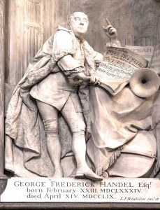 Handel memorial by Roubiliac, Westminster_Abbey