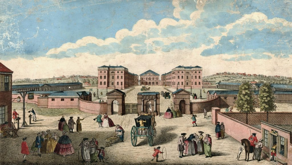 Foundling Hospital, London in 1750
